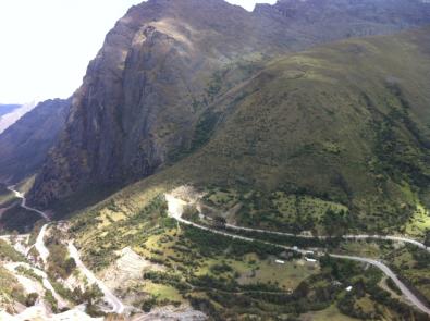 The collectivo to Santa Maria - Stunning views