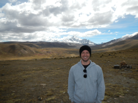 Altiplano mit Huayna Potosi im Hintergrund