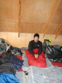 """""""Schlafen"""" im Rockcamp auf 5.130m"""