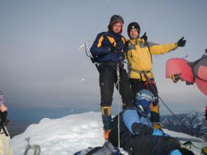 Asmus und ich auf dem Gipfel