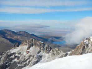 La Paz in der Ferne mit Smogwolke