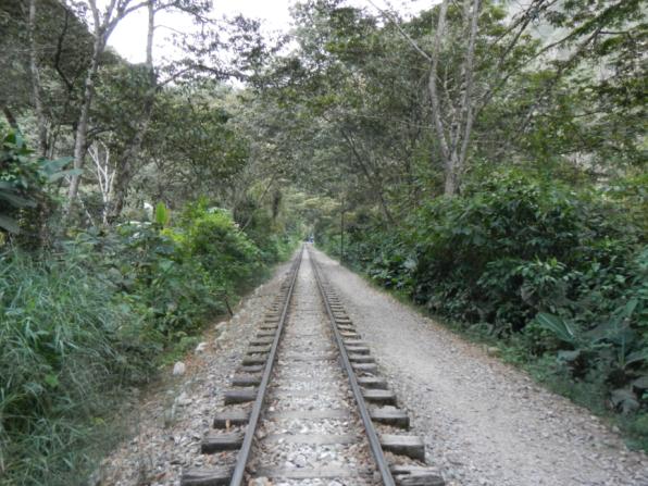 Train tracks to Aguas Calientes