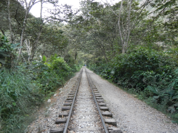Train tracks to Aguas Calientes