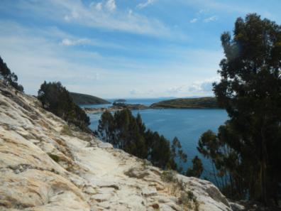 Blick über den nördlichen Hafen der Isla del Sol