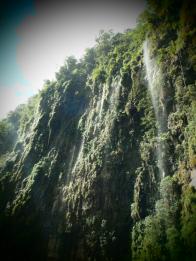 Wasserfälle auf der Death Road