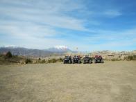 Quads vor dem Mount Illimani