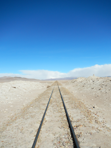 Train tracks to Chile