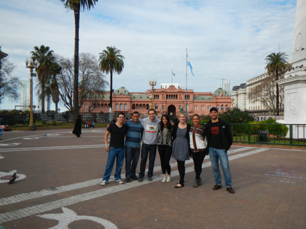 Our fantastic group in front of the Casa Rosada