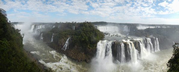 Panoramic shot taken from the Brazilian side