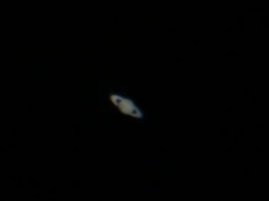 Saturn through the telescope