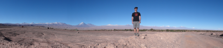 Panoramic view on the way to the Valle de la Luna