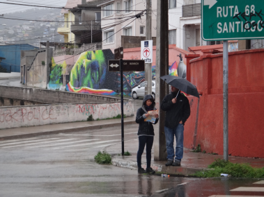 Rainy day in Valparaiso