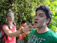 Adrian getting face painted
