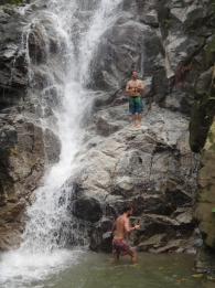 Marco and me in the lower waterfall