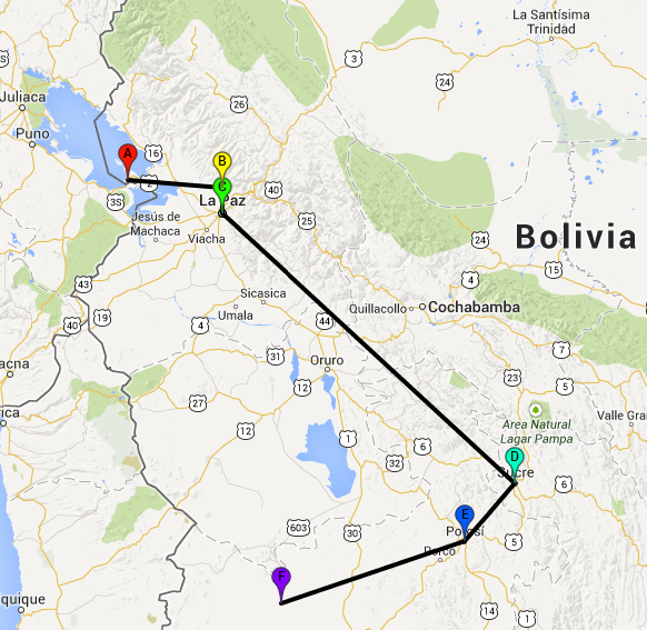 Route Bolivia