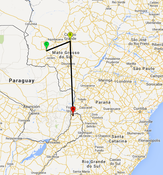 Route Brazil