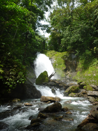 Waterfall close to San Pedrillo Ranger Station