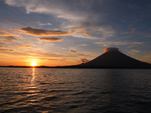 Sunset and Volcán Conception
