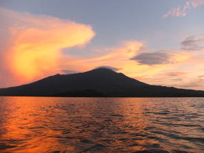 Sunset and Volcán Madera