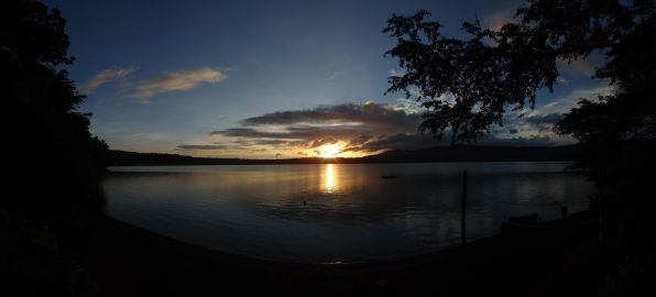 Sunrise at Laguna de Apoya