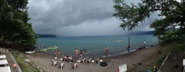 Storm coming at Laguna de Apoya