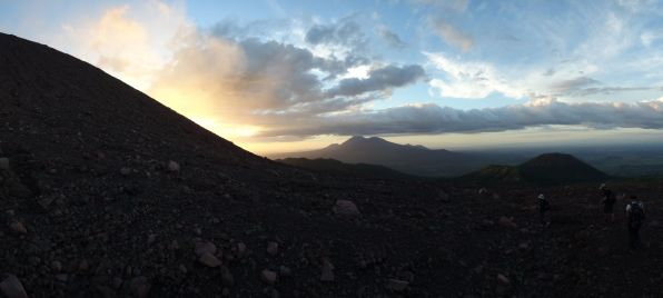 Sunset at Volcán Telica