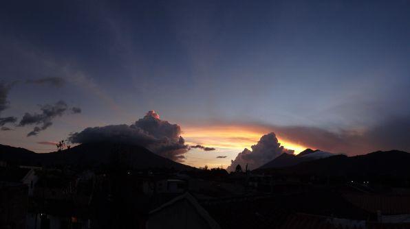 Sunset over Antigua