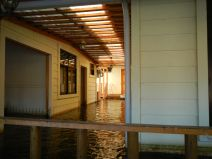Flooded house from the inside