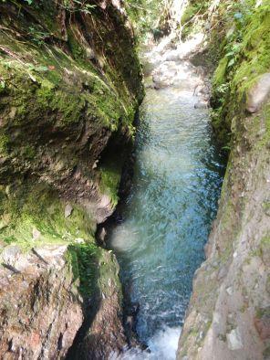 Climbing through the canyon 3