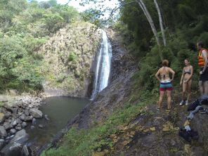 60m waterfall at the end of the hike