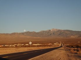 Moonrise on the way to Vegas