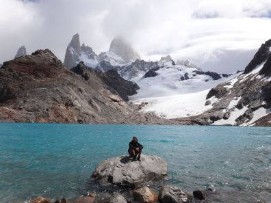 Me at the Laguna de los Tres