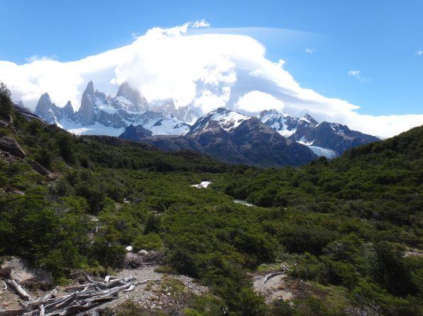Mt. Fitzroy in clouds
