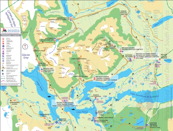 Map of Torres del Paine National Park